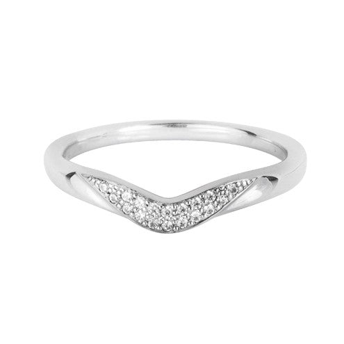Pave stone set wedding ring - Hamilton & Lewis Jewellery