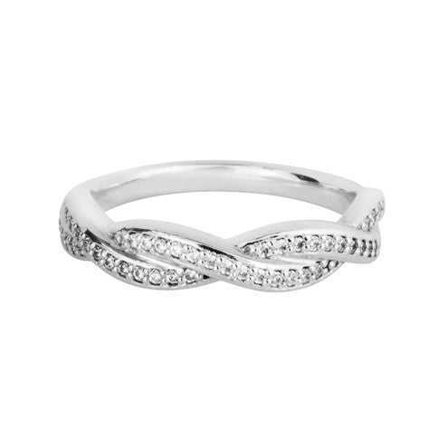 Infinity symbol inspired shaped wedding ring - Hamilton & Lewis Jewellery