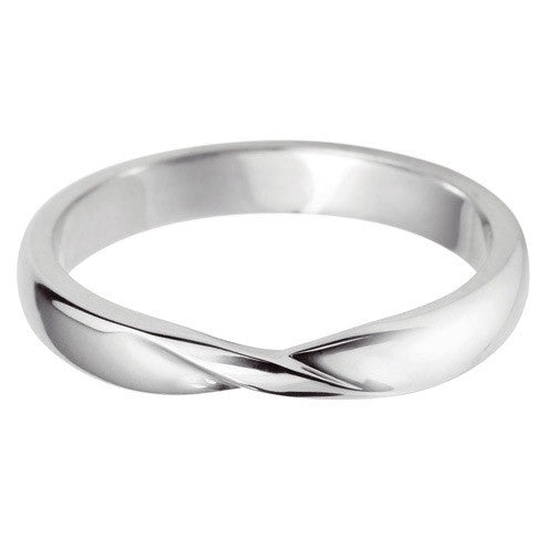 Ribbon twist shaped wedding ring. - Hamilton & Lewis Wedding Jewellery