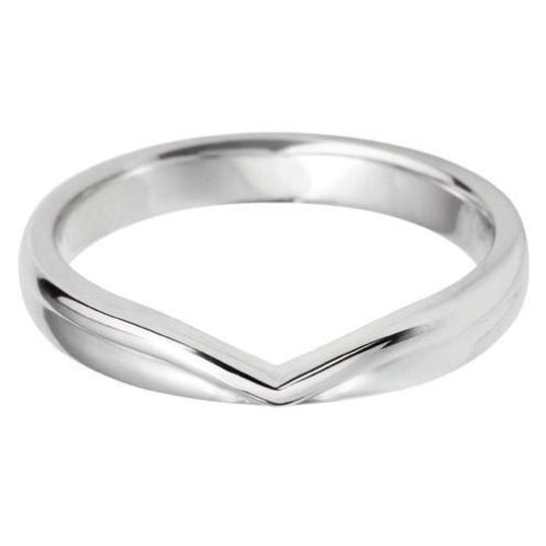 'V' Shaped Wedding Ring - Hamilton & Lewis Jewellery
