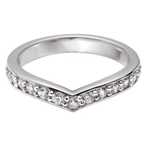 Curve Grain Set Shaped Wedding Ring - Hamilton & Lewis Jewellery