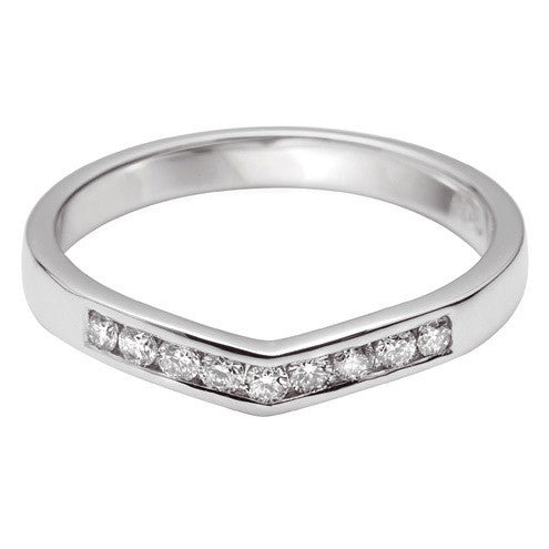 Curve Shaped Wedding Ring - Hamilton & Lewis Jewellery