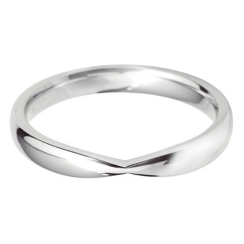 Bow inspired shaped wedding ring - Hamilton & Lewis Jewellery