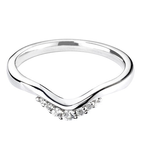 Tiara inspired shaped wedding ring - Hamilton & Lewis Jewellery