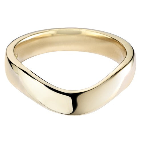 Wave Curve Shaped Wedding Ring - Hamilton & Lewis Jewellery