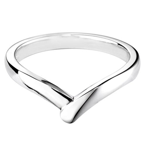 Wishbone Shaped Wedding Ring - Hamilton & Lewis Jewellery