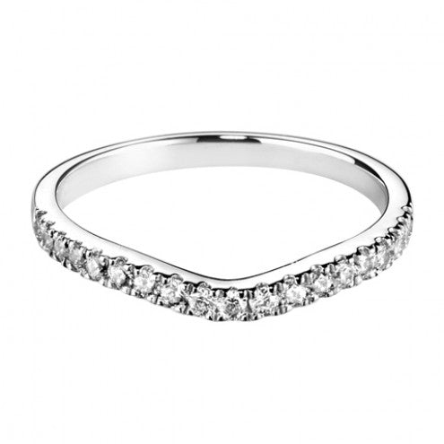 Fishtail diamond set wedding band - Hamilton & Lewis Jewellery