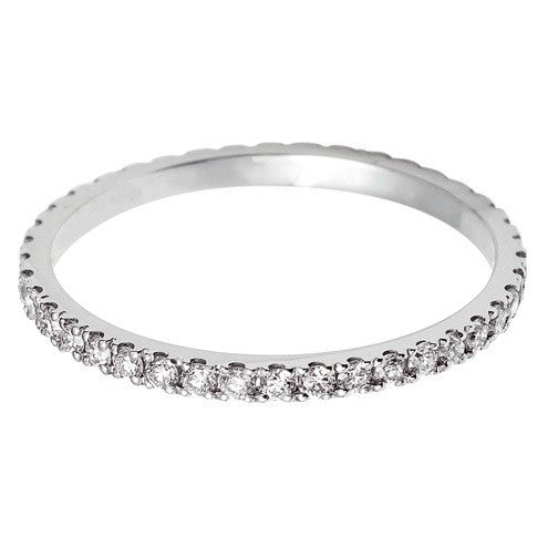 1.5mm Vintage Eternity With Scalloped Edge Setting. - Hamilton & Lewis Jewellery