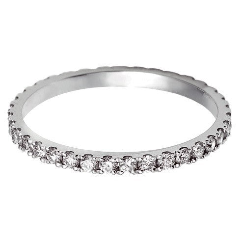 1.7mm Vintage Eternity With Scalloped Edge Setting. - Hamilton & Lewis Jewellery