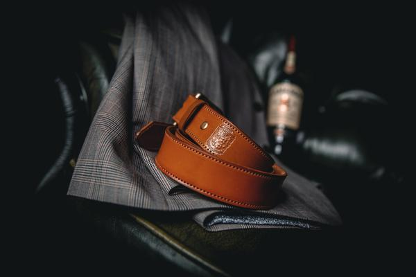 35mm Stitched Gent's Belt - Hamilton & Lewis Jewellery