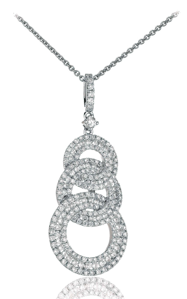 Fancy Looped Pendant XYN0868R - Hamilton & Lewis Jewellery