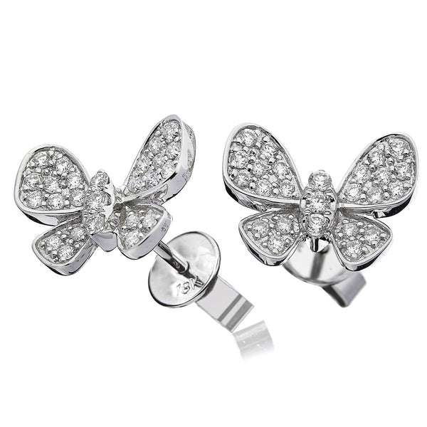 Butterfly Cluster Earring Set 0.50ct - Hamilton & Lewis Jewellery