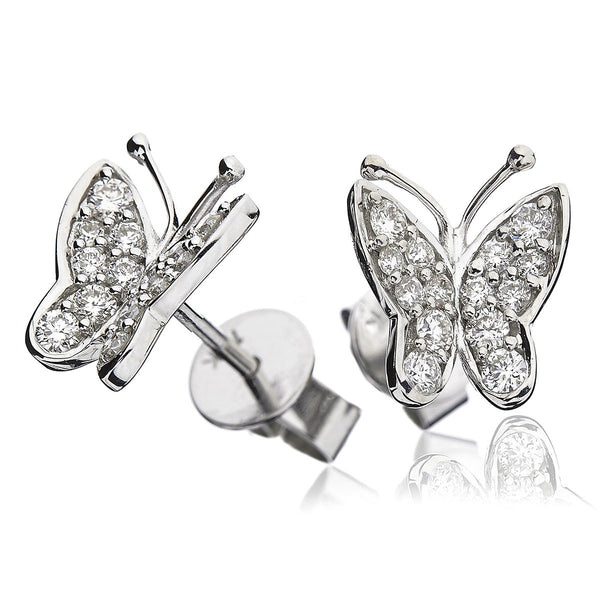 Butterfly Cluster Earring Set 0.40ct - Hamilton & Lewis Jewellery