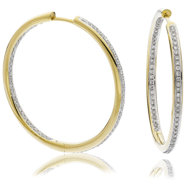 Diamond Hoop Earring Set 0.35ct - 0.90ct - Hamilton & Lewis Jewellery