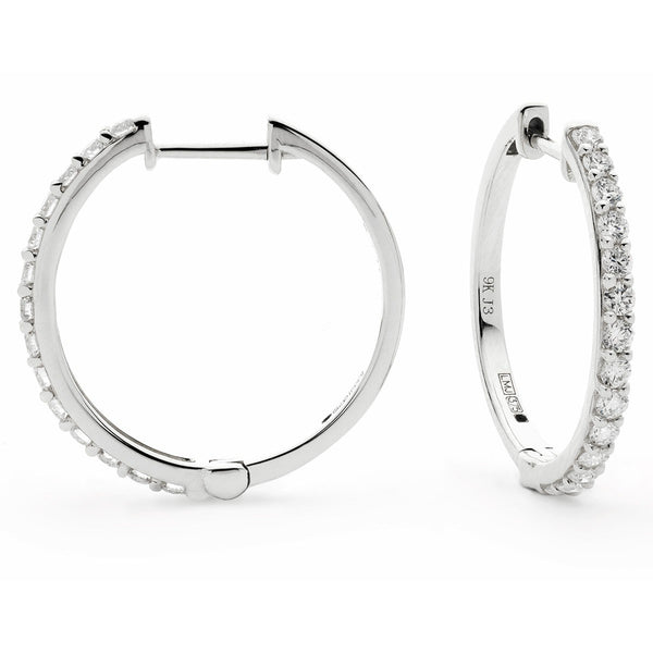 Diamond Hoop Earring Set 0.30ct - 0.50ct - Hamilton & Lewis Jewellery