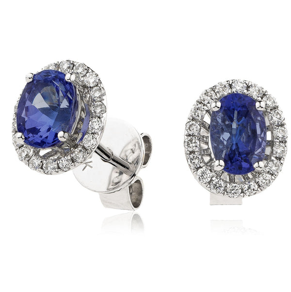 Diamond & Blue Sapphire Earrings 0.90ct - Hamilton & Lewis Jewellery