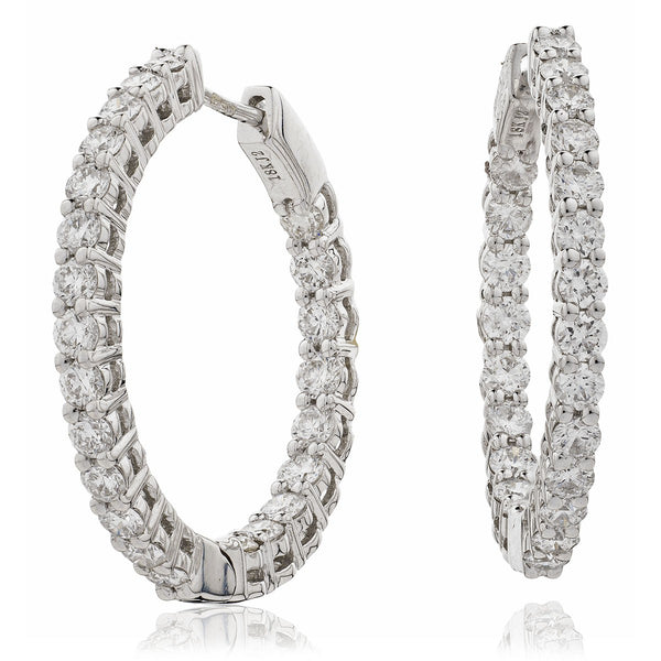 Diamond Hoop Earring Set 0.50ct - 7.00ct - Hamilton & Lewis Jewellery