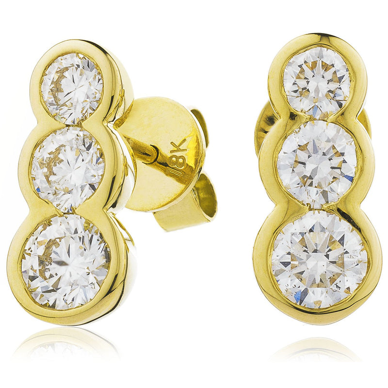 Trilogy Earring Set 0.60ct - 1.50ct - Hamilton & Lewis Jewellery