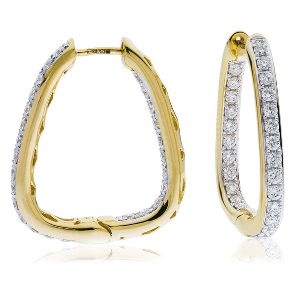 Diamond Hoop Earring Set 0.50ct - 1.50ct - Hamilton & Lewis Jewellery