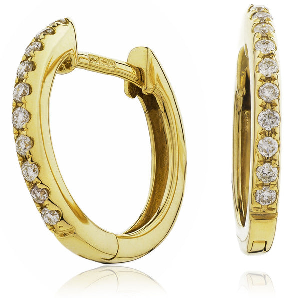 Diamond Hoop Earring Set 0.06ct - 0.20ct - Hamilton & Lewis Jewellery