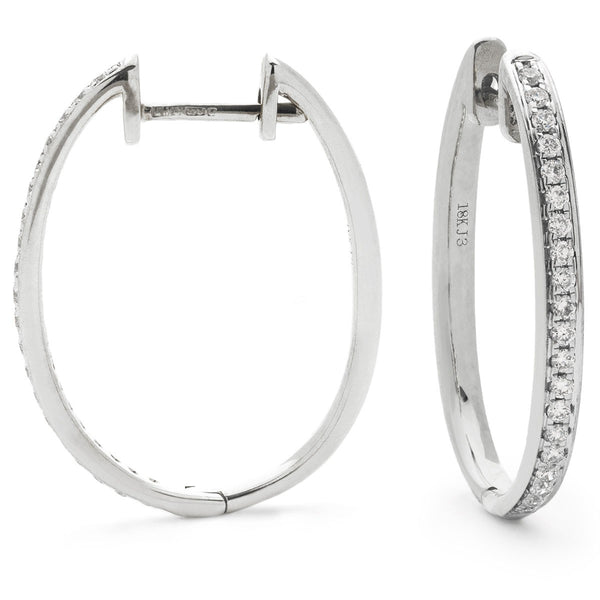 Diamond Hoop Earring Set 0.25ct - 0.30ct - Hamilton & Lewis Jewellery