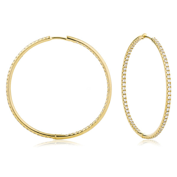 Diamond Hoop Earring Set 0.50ct - 1.90ct - Hamilton & Lewis Jewellery