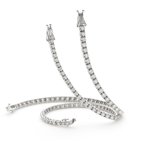 Claw set tennis bracelet 1.25ct - 3.00ct - Hamilton & Lewis Jewellery