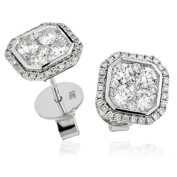 Cluster Earring Set 1.15ct - Hamilton & Lewis Jewellery