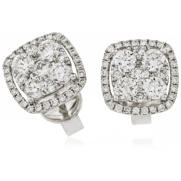 Cluster Earring Set 1.00ct - 1.60ct - Hamilton & Lewis Jewellery