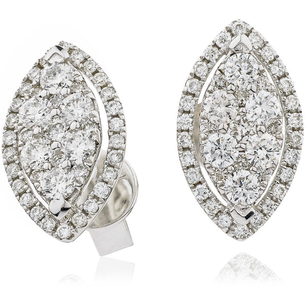 Cluster Earring Set 0.85ct - Hamilton & Lewis Jewellery