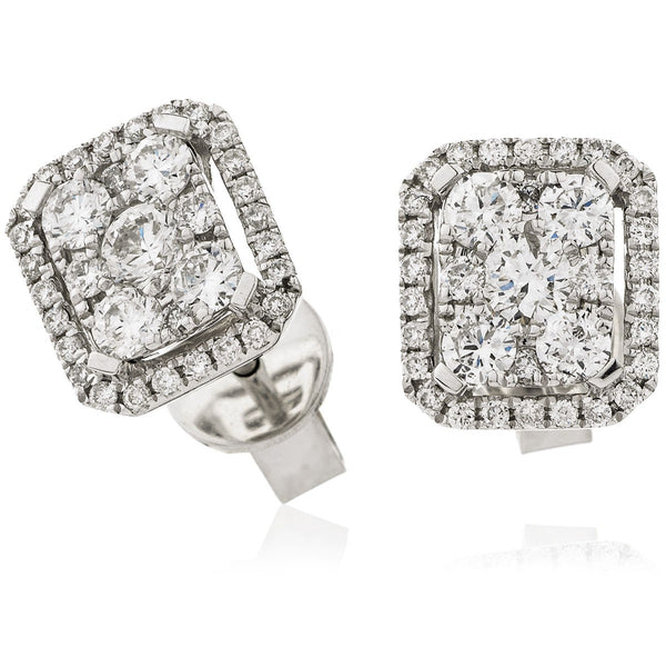 Cluster Earring Set 0.75ct - Hamilton & Lewis Jewellery