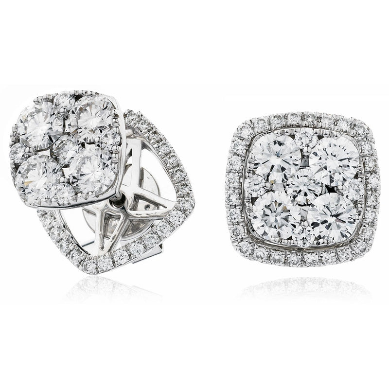 Cluster Earring Set 1.50ct - Hamilton & Lewis Jewellery