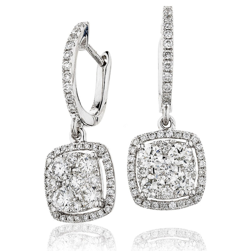 Diamond Drop Earring Set 1.25ct - Hamilton & Lewis Jewellery