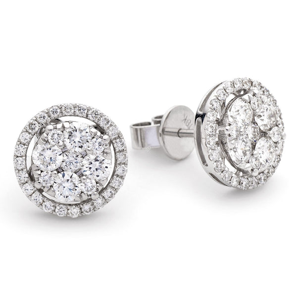 Cluster Earring Set 0.90ct - 1.35ct - Hamilton & Lewis Jewellery