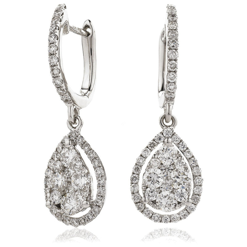 Diamond Drop Earring Set 1.05ct - Hamilton & Lewis Jewellery