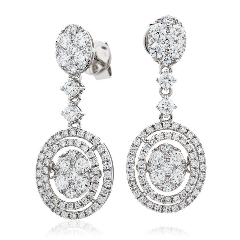 Diamond Movable Earring Set 1.90ct - Hamilton & Lewis Jewellery