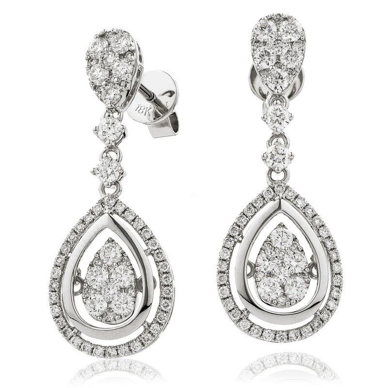 Diamond Movable Earring Set 1.60ct - Hamilton & Lewis Jewellery