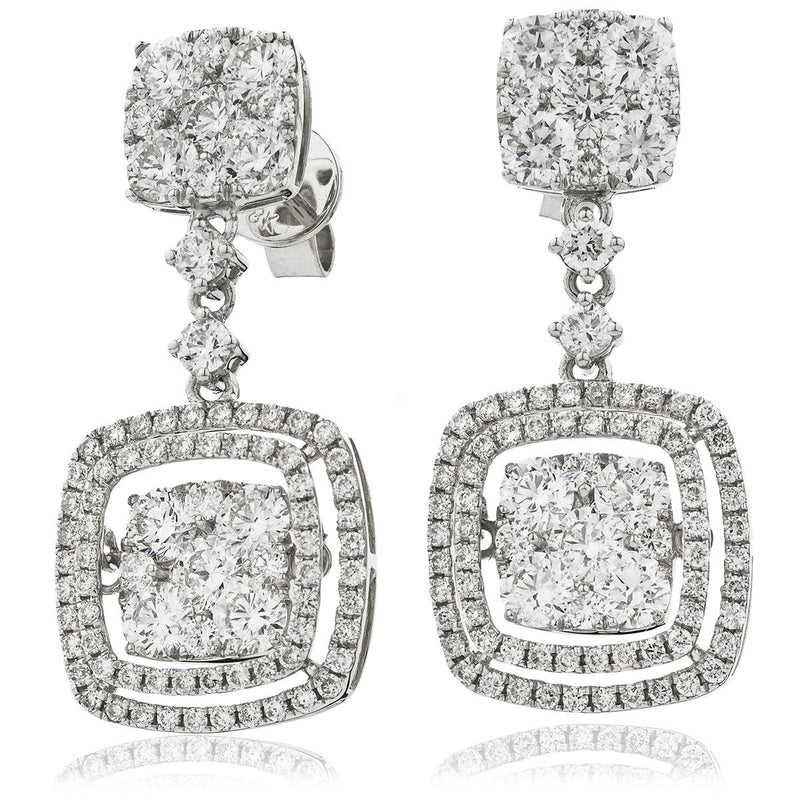 Diamond Movable Earring Set 3.75ct - Hamilton & Lewis Jewellery