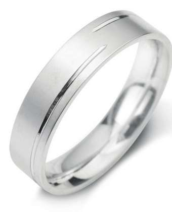 5mm Mens Ring with F16 finish - Hamilton & Lewis Jewellery