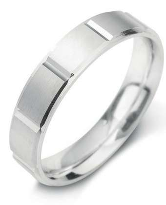 5mm Mens Ring with F17 finish - Hamilton & Lewis Jewellery