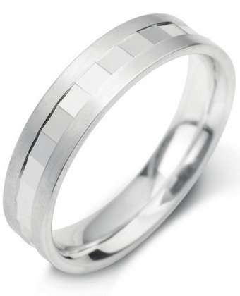 5mm Mens Ring with F18 finish - Hamilton & Lewis Jewellery
