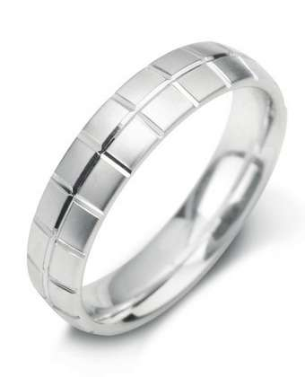 5mm Mens Ring with F19 finish - Hamilton & Lewis Jewellery