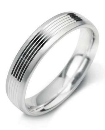 5mm Mens Ring with F20 finish - Hamilton & Lewis Jewellery