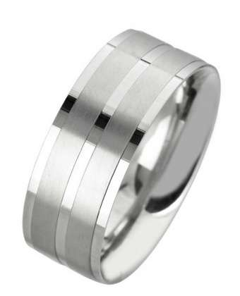 5mm Mens Ring with F22 finish - Hamilton & Lewis Jewellery