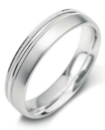 5mm Mens Ring with F24 finish - Hamilton & Lewis Jewellery