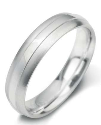 5mm Mens Ring with F25 finish - Hamilton & Lewis Jewellery