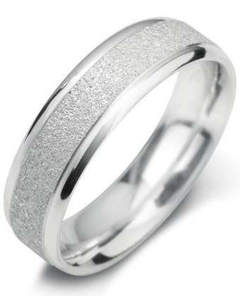 5mm Mens Ring with F26 finish - Hamilton & Lewis Jewellery