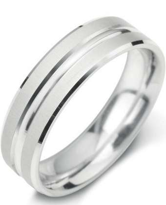 5mm Mens Ring with F27 finish - Hamilton & Lewis Jewellery