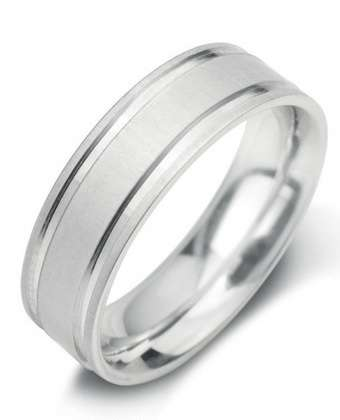 5mm Mens Ring with F28 finish - Hamilton & Lewis Jewellery