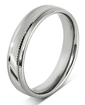 5mm Mens Ring with F34 finish - Hamilton & Lewis Jewellery